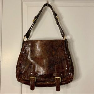 CYNTHIA ROWLEY Leather Snakeskin/Croco Hobo Bag